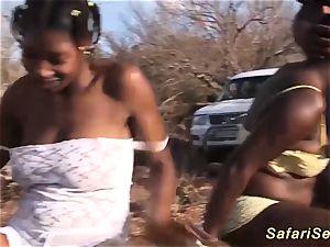 Outdoor African safari fucky-fucky