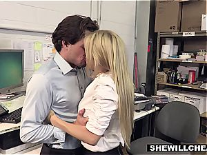 SheWillCheat - chesty cougar chief plumbs new employee