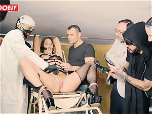 LETSDOEIT - Amirah Is manhandled at her first-ever domination & submission soiree