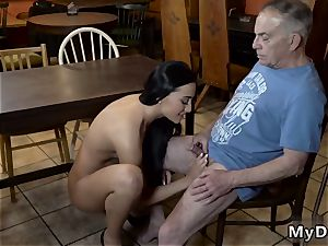 aged boy nubile humungous boobies and slurping Her beau s father was giving compliments to Anna, since