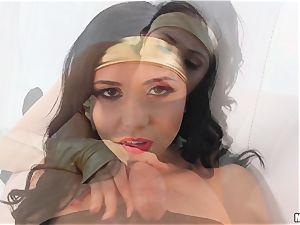 super Ariana Marie inhales supah manstick