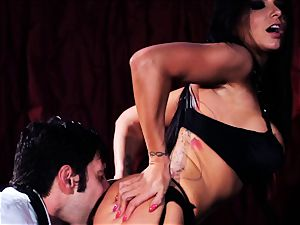 Romi Rain molten and throating man meat