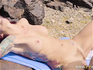 Desert yoga boink with stiffy longing Monique Alexander