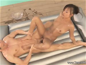 jaw-dropping erotic Nuru massage movie