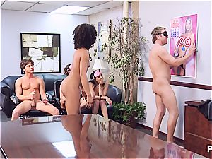 Getting horny in the office part four