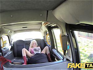 fake cab blonde fantastic hotty does backseat anal lovemaking