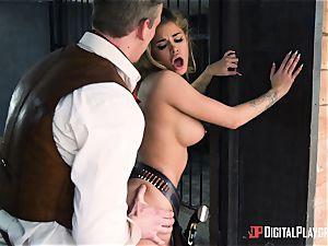 Western vulva pounding with Jessa Rhodes and Misha Cross