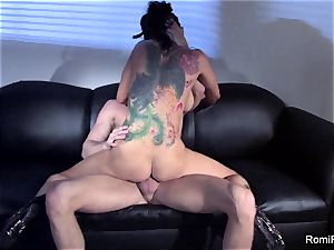 uber-sexy Romi Rain teases and then gets drilled firm