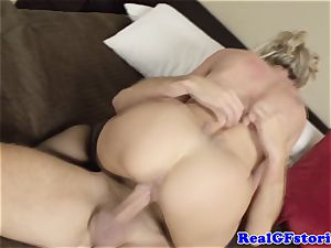 red-hot ash-blonde housewife mummy porked