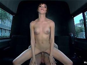 BumsBus - German Anny Aurora unclothe and bangs in the van