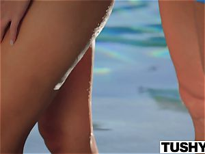 TUSHY first-ever buttfuck For light-haired Scarlet red