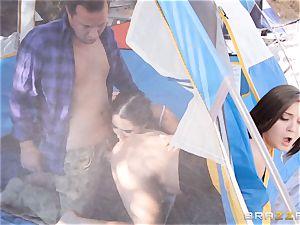 cumswap camping sweeties Karlee Grey and Jojo kiss