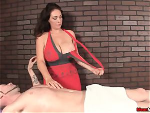 gorgeous dark-haired gets epic massage