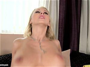 Mandy Dee likes burst of enormous jizm fluid right on her baps