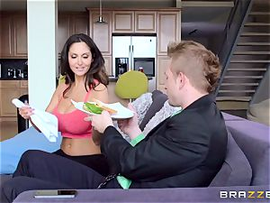 Ava Addams is plowed in both her moist crevices