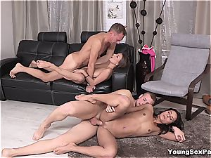 killer young Russians having foursome