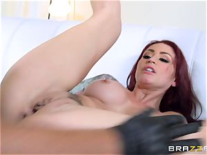 sandy-haired wife Monique Alexander gets torn up in front of her husband