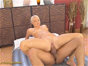 large butt babe gets greasy romped