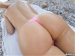 Beach plowing with Erica Fontes
