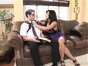 ample breasted honey Lisa Ann bags herself a toyboy