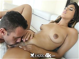 EXOTIC4K chained up dribbling oil shag with Latina