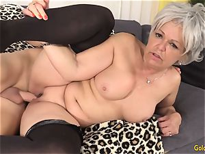 grandmother Kelly Leigh Is mischievous for a shaft