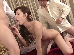 extraordinaire three way to poke both Mei Haruka love crevices