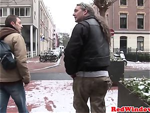 Doggystyled amsterdam hooker romps tourist