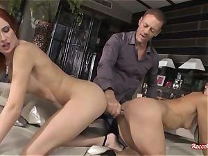 Rocco Siffredi Ravishes culos of three messy porn dolls