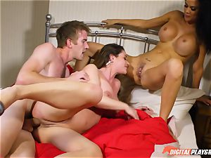 cum swallowing threesome in this parody with Cathy Heaven and Jasmine Jae