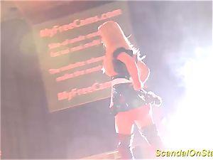 scorching stepmom striptease on stage