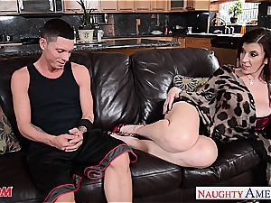 mummy Sara Jay gets her puss pummeled and face caked