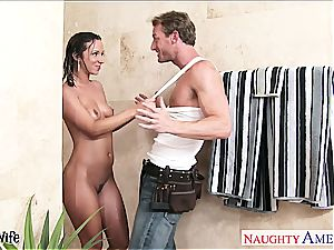 mind-blowing wife Jada Stevens gets boinked in douche
