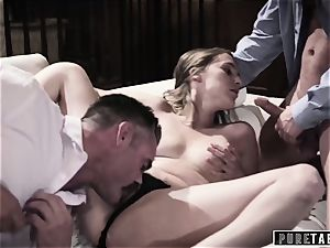 pure TABOO babe Tricked Into revenge 3some with Strangers