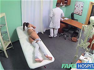 FakeHospital torrid black-haired Patient comebacks craving manhood