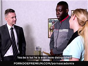 porno ACADEMIE - ass-fuck threesome with light-haired student