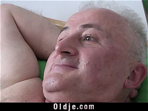 chesty young Nurse humping granddad nutting In Her jaws
