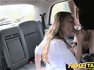 fake taxi splendid Welsh mummy with hot assets