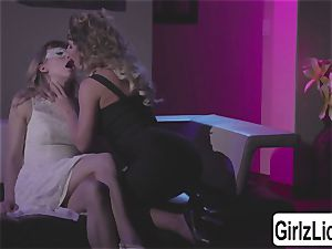 two splendid bi-otches Cherie DeVille and Ivy Wolfe jiggly gobbling pussies