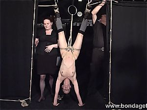 Elise Graves restricted while her muff is pleased