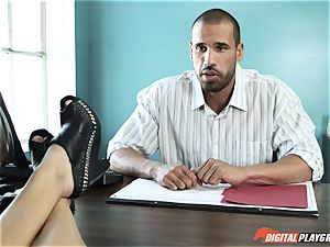 Natalia Starr pokes her prospective chief