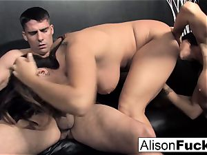 3-way hard-core feisty sex with Alison