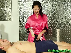 throating massagist spermed