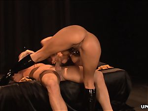 licking Sandra's booty then they get to banging