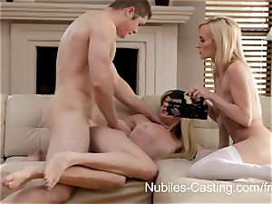 Aspiring porn industry stars get nutted