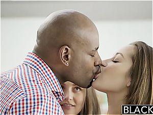 BLACKED gfs Dani Daniels and Allie Haze multiracial three way