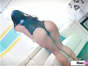 Gina Valentina finger explosion her tiny lil' moist poon