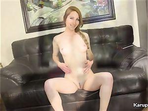 Nina Skye fake penis ravages Her fuckbox