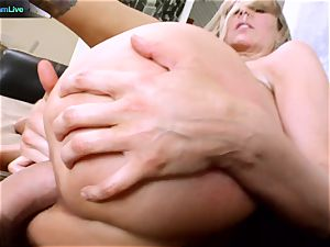 Julia Ann getting her wide open fuckhole stretched