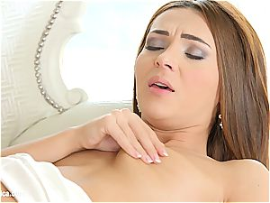Alexis Brill drilling with Diana Dolce